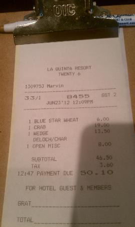 Twenty 6: $19 for a crab cake...