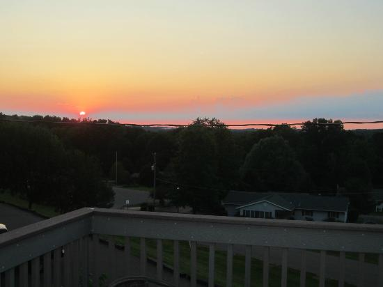 Berlin, OH: View off of the deck.