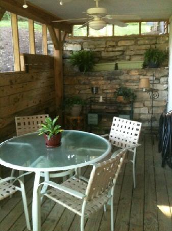 Lost River Bed & Breakfast : One of 2 cozy screened-in porches