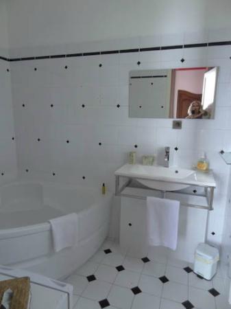 L'escale: Bathroom was bright and clean.