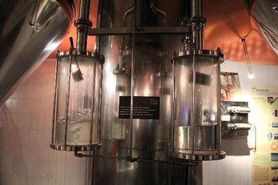 "Museum of the Belgian Brewers: ""Hi-Tech"" Display in the center of the 2nd room at the ""Museum"""