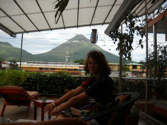 Hotel Las Colinas: Unbelievable view of Volcano Arenal, Never so clear!