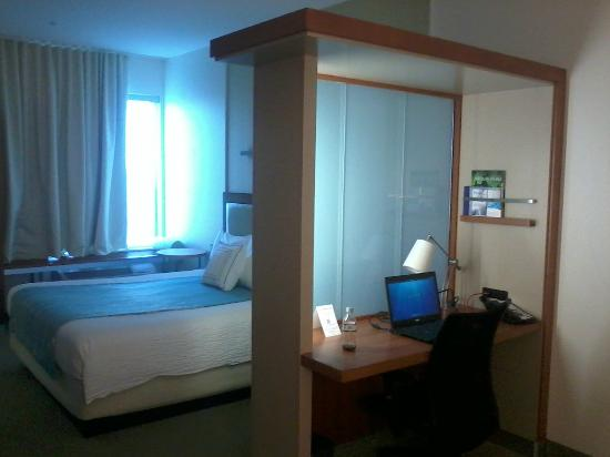 SpringHill Suites Ashburn Dulles North: Room with a divider