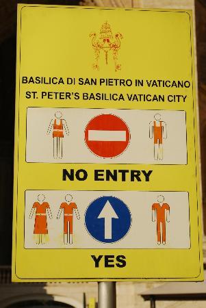 Vatican Dress Code.