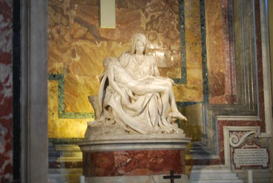 Vatican: Famous statue in the Basilica