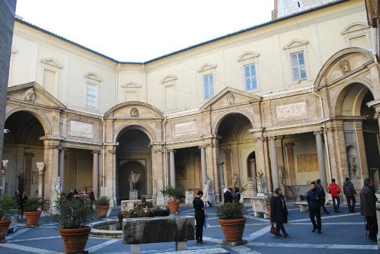 Courtyard inside Vatican Museum.