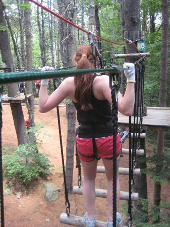 Adirondack Extreme Adventure Course: Just warming up...