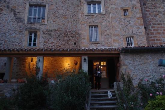 Val d'aleth: Evening light after dinner