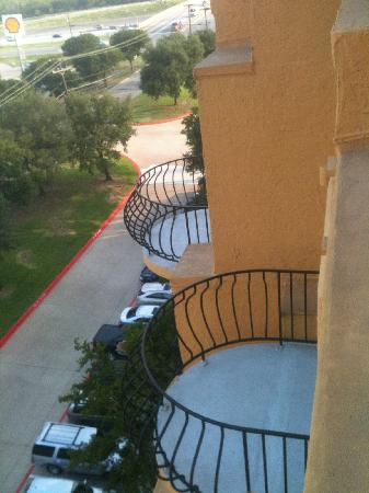 Embassy Suites by Hilton Dallas DFW Airport South: from our balcony, all rooms have balconies