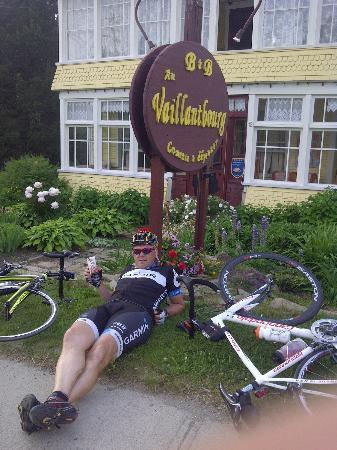 Au Vaillantbourg B&B: Notre arrivée après une dure journée de montées