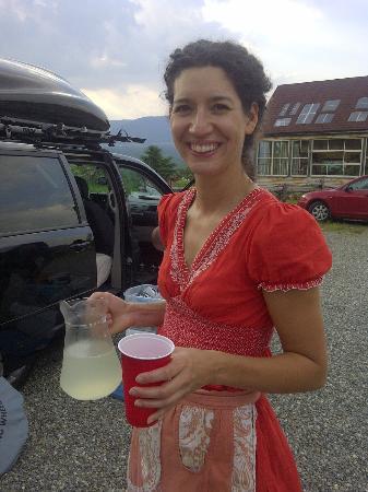 Au Vaillantbourg B&B: Une bonne limonade servie avec le sourire