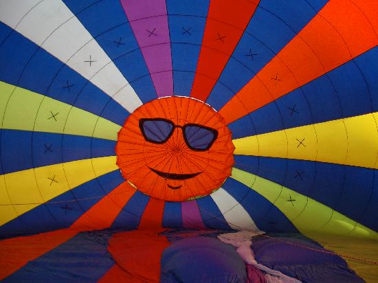 Balloons of Vermont - Private Flights: Inflating the balloon