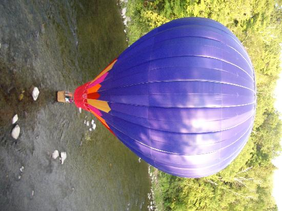 Balloons of Vermont - Private Flights: Touching down in the river