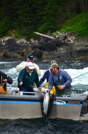 Waterfall Resort Alaska: Salmon Fishing at Waterfall Resort in S.E. Alaska is great!