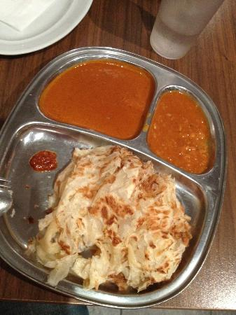 Mamak Chatswood: Roti Canai with 2 curry dips and spicy sambal!