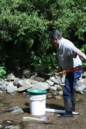 Gold Prospecting Adventures: My husband using all of the equipment supplied by GPA