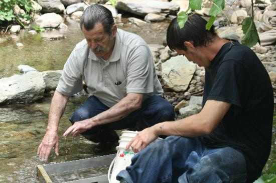 Gold Prospecting Adventures: My husband( left) and our guide Dustin