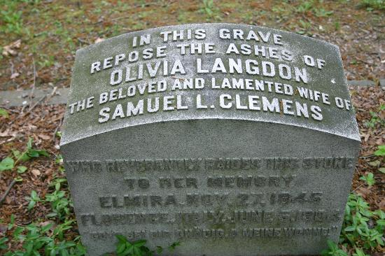 Woodlawn Cemetery of Elmira: Olivia Langhorn, wife of Samuel Clemens