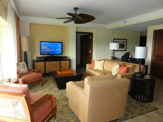 Marriott's Kauai Lagoons - Kalanipu'u: Living Room
