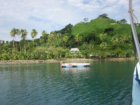 Daku Resort: our Villa, view from the boat