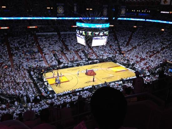 NBA final, game 5. June 21 2012. Miami Heat crowned champions - Picture of American Airlines ...