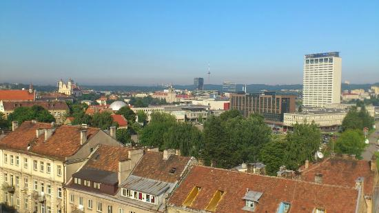 Holiday Inn Vilnius: View towards old town from the roof