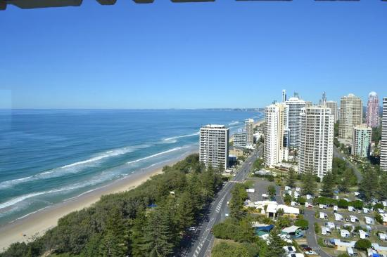 De Ville Apartments: See the whole stretch of Gold Coast from our balcony