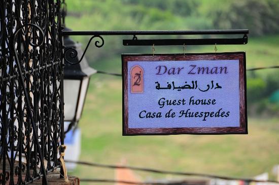 Dar Zman: Вывеска отеля