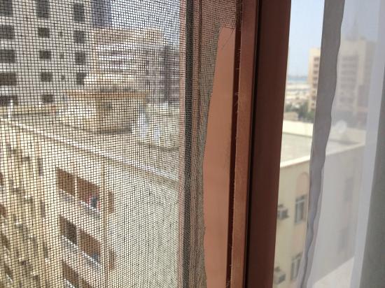 Windsor Tower Hotel Bahrain: Window screen