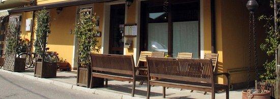 Porto Tolle, Italie : Osteria Arcadia, l'ingresso