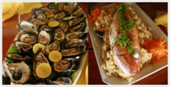 Oyster Island Resort Restaurant: Fresh sustainable seafood.