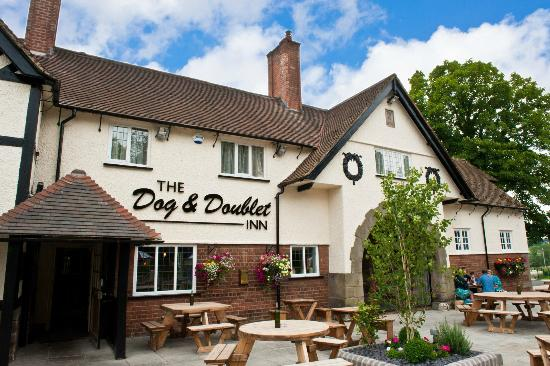 The Dog and Doublet Inn Sandon: A great place for a summer drink
