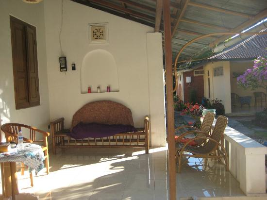 Karangsari Guest House: the private terrace (at our room)
