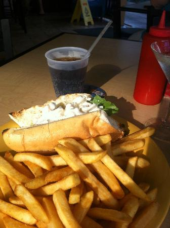 Stinger's : Lobster Roll, Stingers, Seven Mile Beach