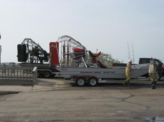 Rockport, TX: Airboats at Goose Island state park