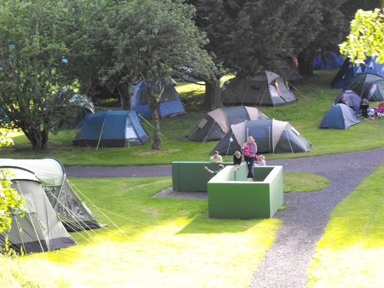 Westport House Camping & Caravan Park: small section of the camp site with taps :)