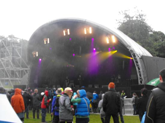 Westport House Camping & Caravan Park: The main stage at festival