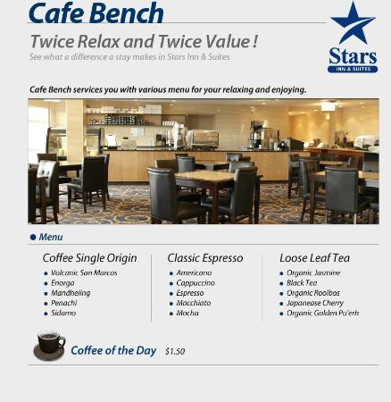 Stars Inn and Suites: cafe bench