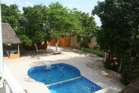Hacienda del Sol: Pool View from Kingsize ensuite room