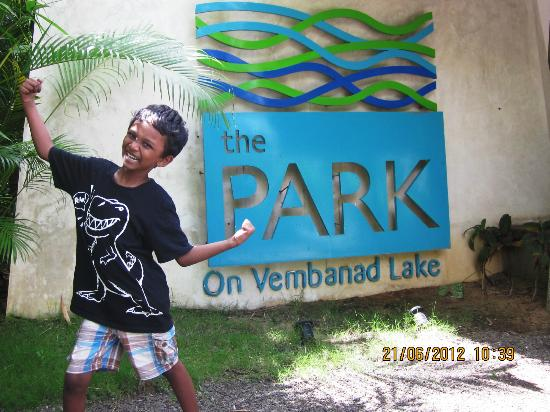 The Park on Vembanad Lake: The entrance..