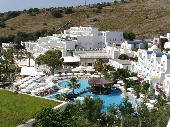 Azka Otel : the view from our room