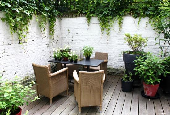 La Maison Theodore: terrasse jardin