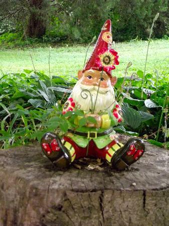 Blue Hen Bed & Breakfast: Friendly garden gnome 