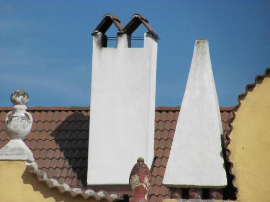 Římov chateau: detail chimney