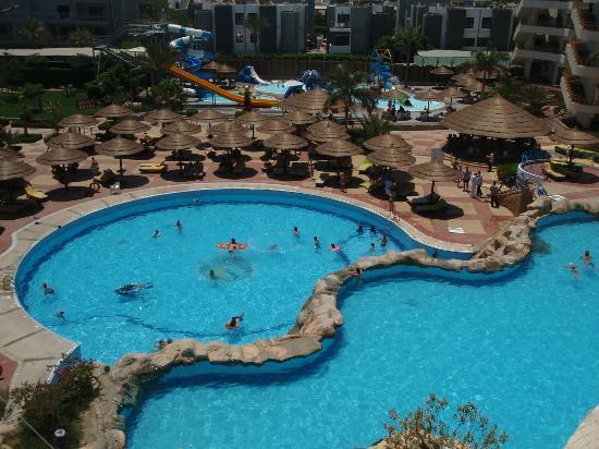 Hurghada SeaGull Beach Resort : Widok z pokoi w części Resort
