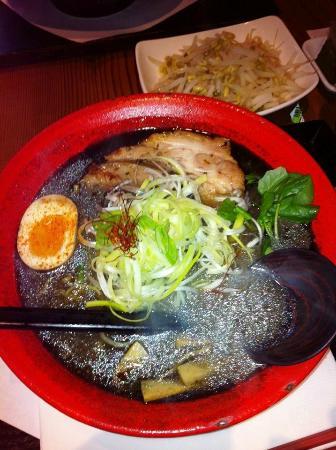 Motomachi Shokudo : Charcoal Soup Ramen Bowl