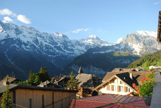 Hotel Jungfrau: The view from our balcony.