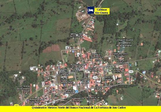Hostel Rio Danta: Cabians Rio Danta Hosta, La Fortuna Map