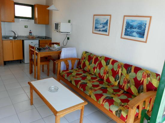 Sofa bed and coffee table picture of babalu apartments - Sofas gran canaria ...