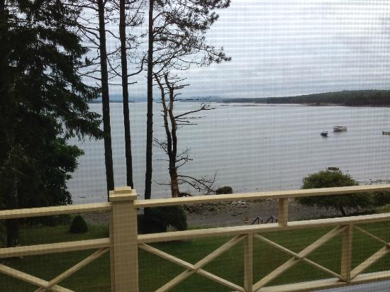 Acadia Bay Inn: Standing on Balcony outside Hunt Room